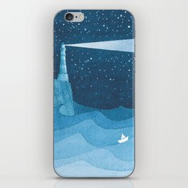 Lighthouse illustration iPhone Skin