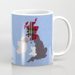 British Isles Fabric Map Art Coffee Mug