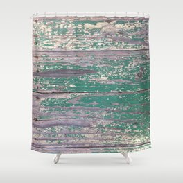 Vintage Timber Shower Curtain