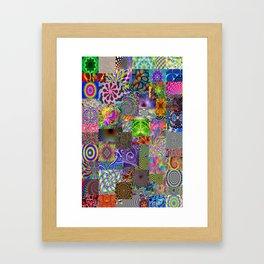 Psychedelic Montage Framed Art Print