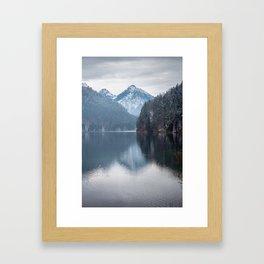 Beautiful lake, Bavarian alps Framed Art Print