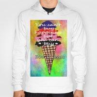 ice cream Hoodies featuring Ice Cream by Sartoris ART
