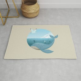 Whale & Seagull (US and THEM) Rug