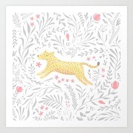Cheetah in Foliage Art Print