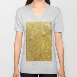 golden vintage Unisex V-Neck