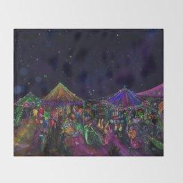 Magical Night Market Throw Blanket