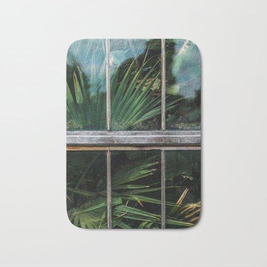Botanical window Bath Mat