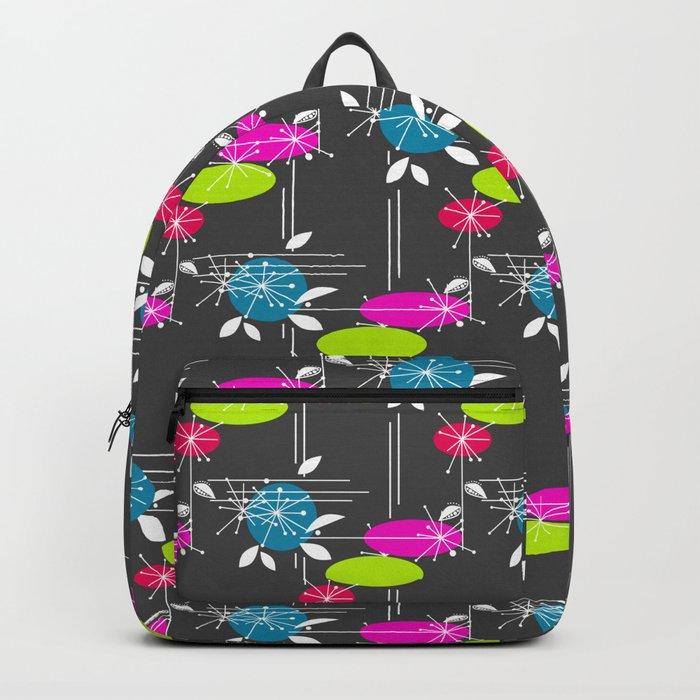 Retro . Black . Backpack