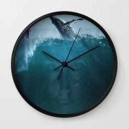 Where the sky meets the ocean Wall Clock