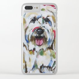 English Sheepdog Clear iPhone Case