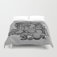 gnome Duvet Covers featuring Gnome by 5wingerone