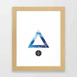 The Ocean Triangle Framed Art Print