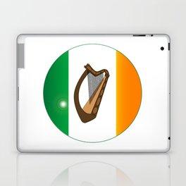 Irish Flag With Harp Button Laptop & iPad Skin