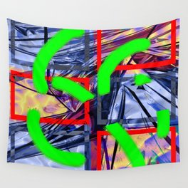 Collage with Mylar effect Wall Tapestry