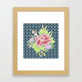 Brocade Bouquet Framed Art Print