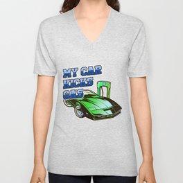 My Car Kicks Gas Electric Car Automobile Gift Unisex V-Neck