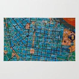 Odessa antique map, colorful mas, classic artwork Rug