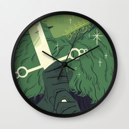 Page of Swords Wall Clock