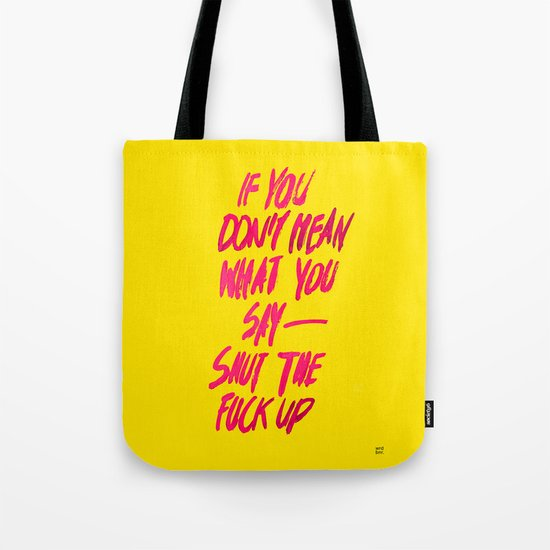 MEAN / popart version Tote Bag