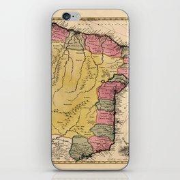 Map Of Brazil 1730 iPhone Skin
