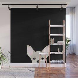 Chihuahua peeking dog breed cute chihuahuas gifts for dog moms pure breed Wall Mural