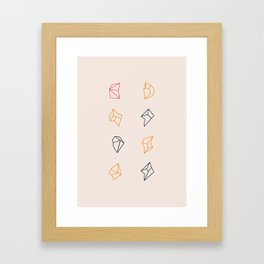 little fragments Framed Art Print