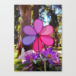 Whirligig colors Canvas Print