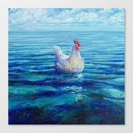 Chicken of the Sea Canvas Print