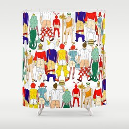 Fast Food Butts Mascots Shower Curtain
