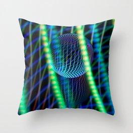 Behind the light glass ball Throw Pillow