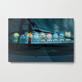 Toys on the Dashboard Metal Print
