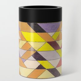 Triangle Pattern No.8 Black and Yellow Can Cooler