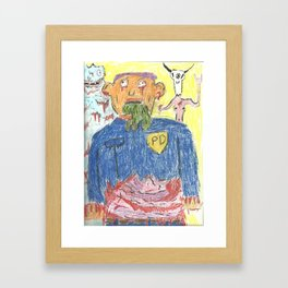 Cops and Cheese Framed Art Print