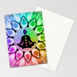 In Meditation With Chakras III Stationery Cards
