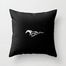 Mustang black Throw Pillow