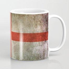 Old and Worn Distressed Vintage Flag of England Coffee Mug