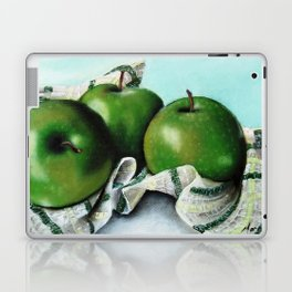 Green Apple and Tea Towel II Laptop & iPad Skin