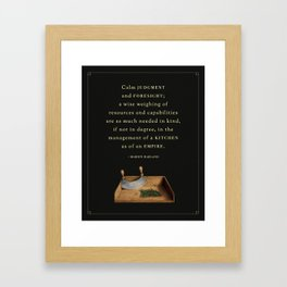 Judgment & Foresight Framed Art Print