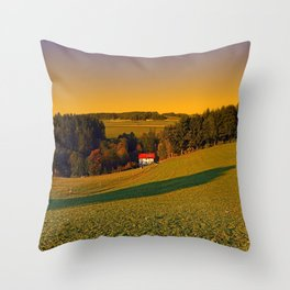 Beautiful sundown in the countryside | landscape photography Throw Pillow
