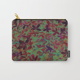 Flora Celeste Purple Agata Leaves   Carry-All Pouch