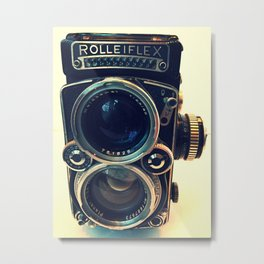 Rolleiflex Camera Metal Print
