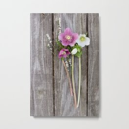 February Bouquet Metal Print