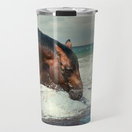 horse collection. Trakehner. swimm Travel Mug