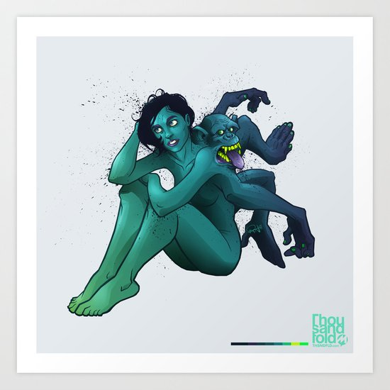 Monkeyback Art Print
