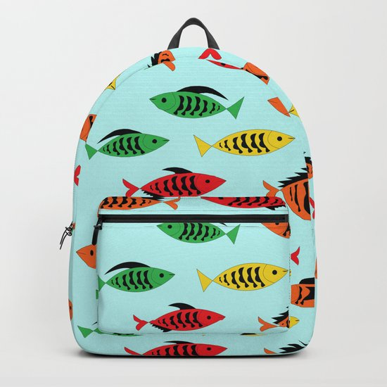 fish pattern Backpack