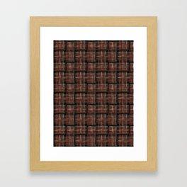 Abstract Criss Cross Weave Framed Art Print