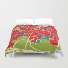Vintage Style Map of Yarraville Duvet Cover