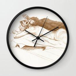 Sarah the landscaper Wall Clock