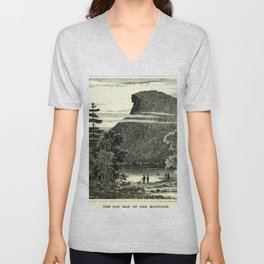 The Old Man of the Mountain Unisex V-Neck