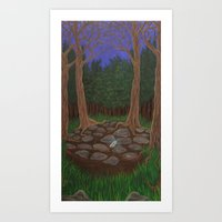 Found Among the Trees  Art Print